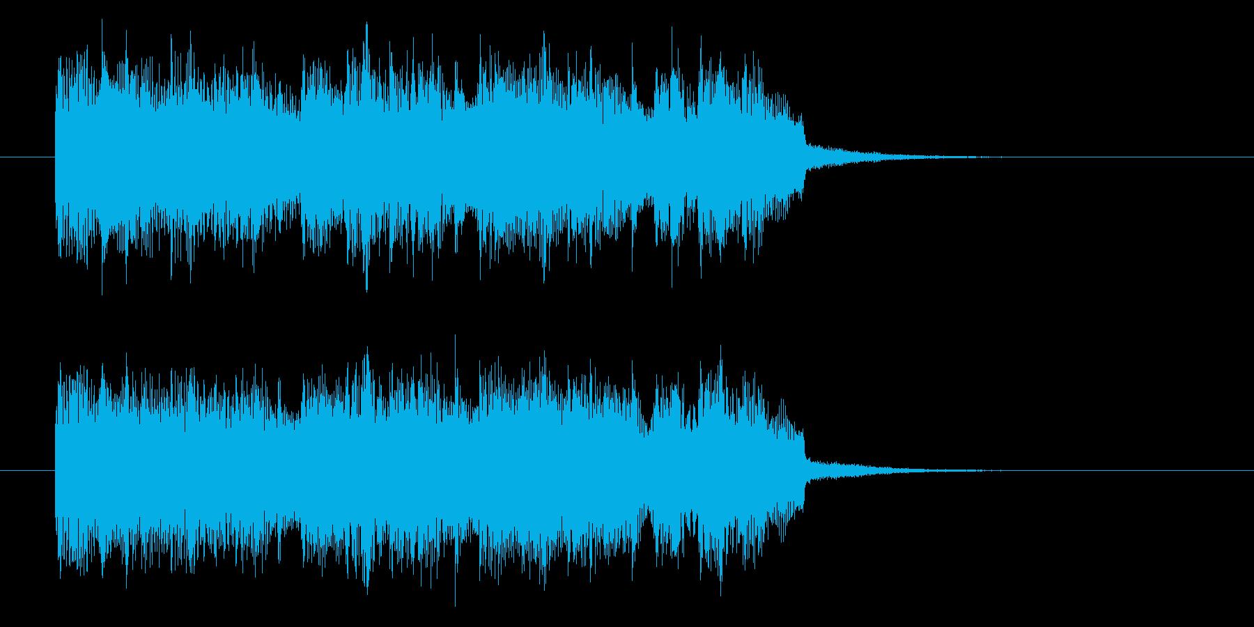 疾走感がありベースが印象的なロックの再生済みの波形