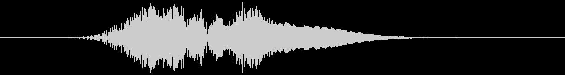 選択音、決定音など (テッ)高い音の未再生の波形