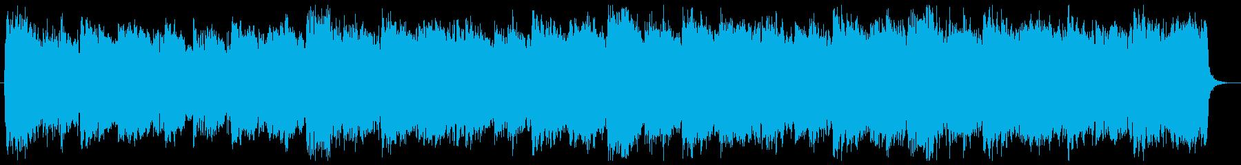 シンセと弦のクールでダークなCM音楽の再生済みの波形