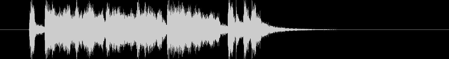 軽快なトランペットとドラムによるBGMの未再生の波形