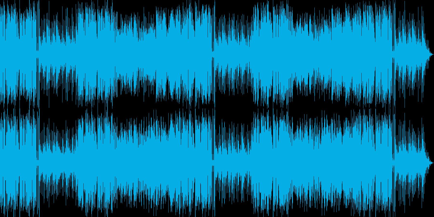 リコーダーとピアニカを使った冒険風の曲の再生済みの波形