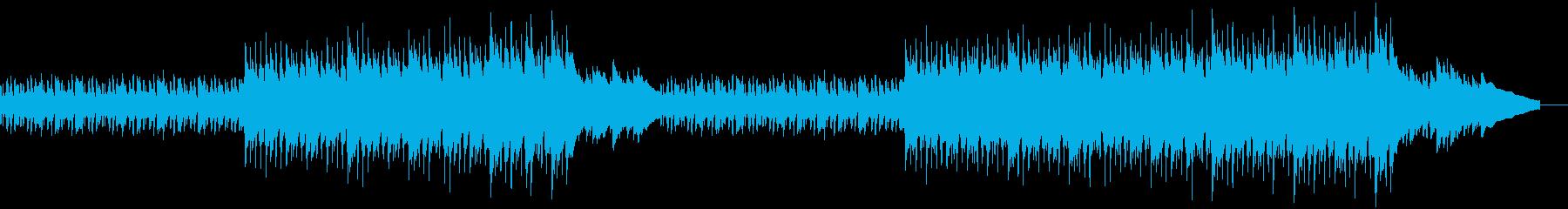 ピアノの繰り返しフレーズで進行していく曲の再生済みの波形