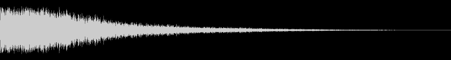 チュキン(きらめき音)の未再生の波形