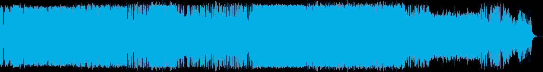 シンセソロ入りの深海イメージ曲の再生済みの波形
