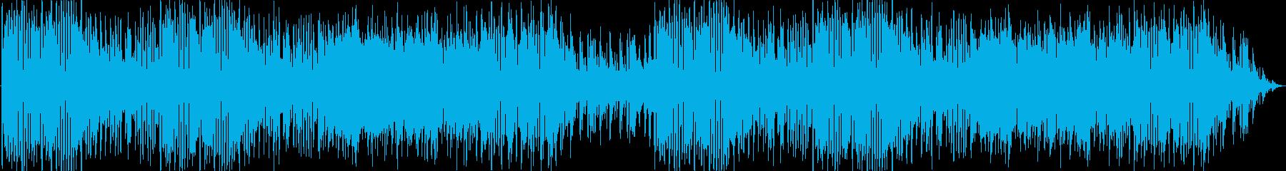 ピアニカや木琴を使った賑やかな曲の再生済みの波形