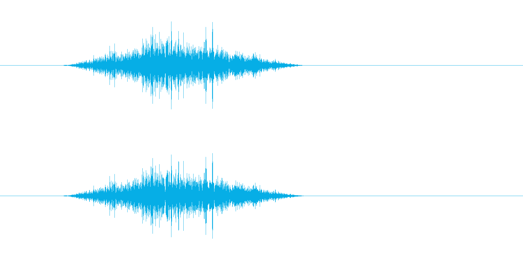 (鼻をすする)の再生済みの波形