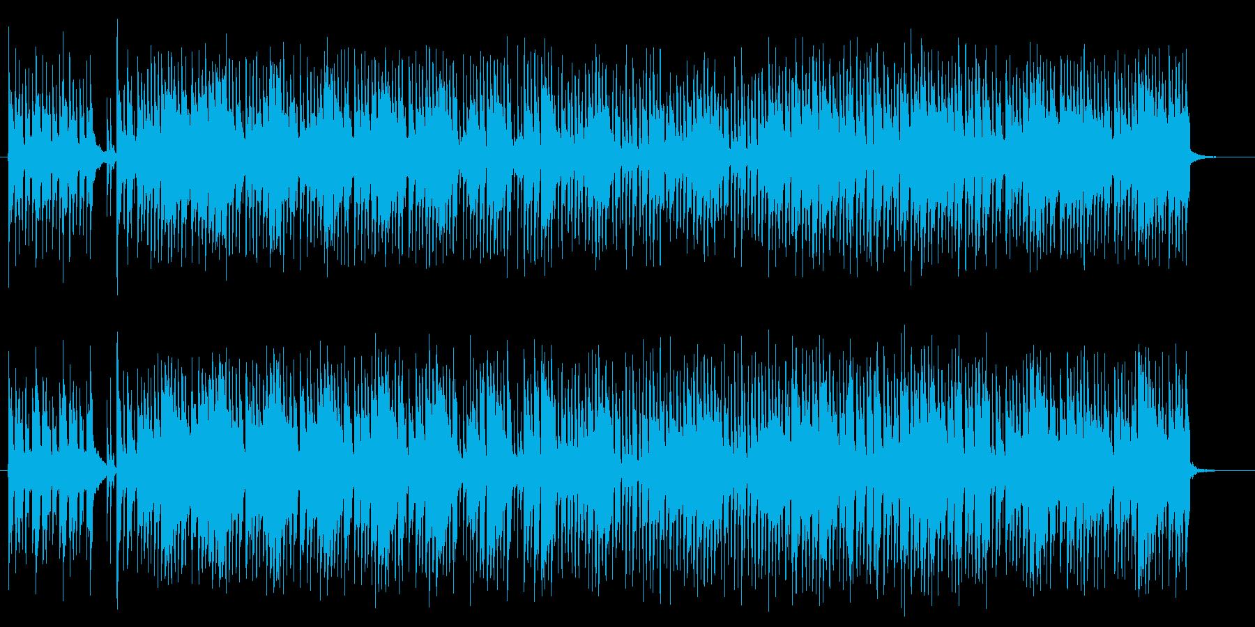 斜に構えた皮肉屋をイメージさせるジャズの再生済みの波形