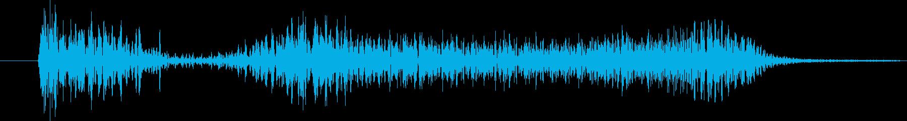 クイックインアンドアウトショートの再生済みの波形