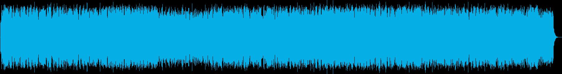 のどかな竹笛の音楽の再生済みの波形
