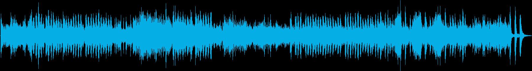 スリルとスピード感のある曲(熊蜂の飛行)の再生済みの波形