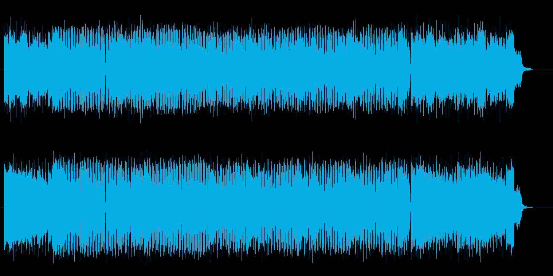 明るくドラムが印象的なロックの再生済みの波形