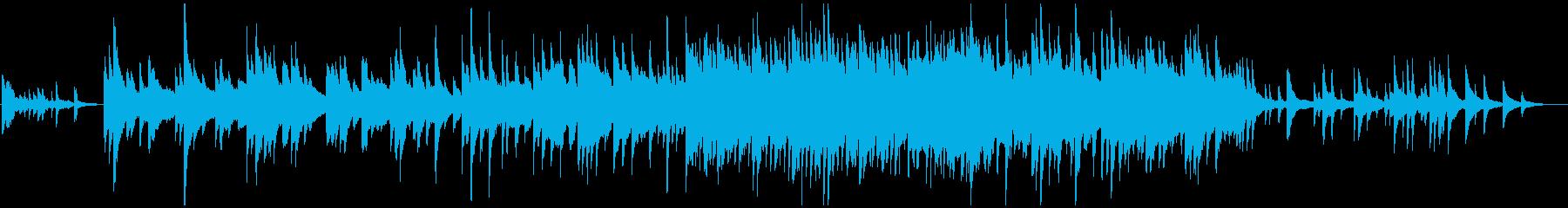 しんみりしたピアノソロ 劇伴の再生済みの波形