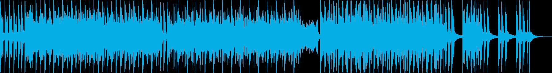 うねるベースの迫力あるビートの再生済みの波形