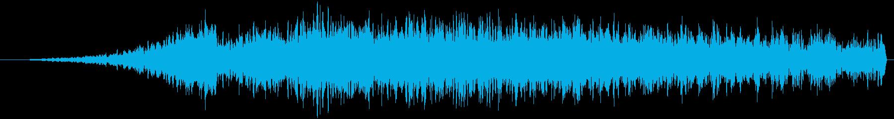 トランジション テープ巻き戻し02の再生済みの波形