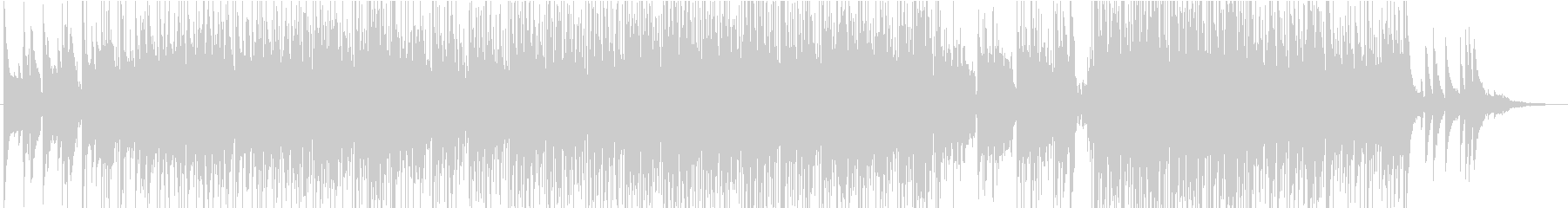 ファンクで暖かい曲の未再生の波形