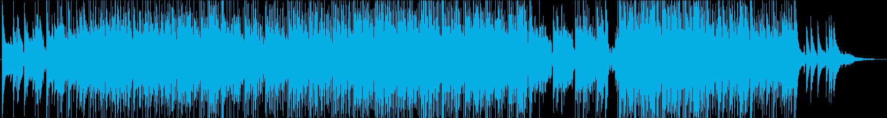 ファンクで暖かい曲の再生済みの波形