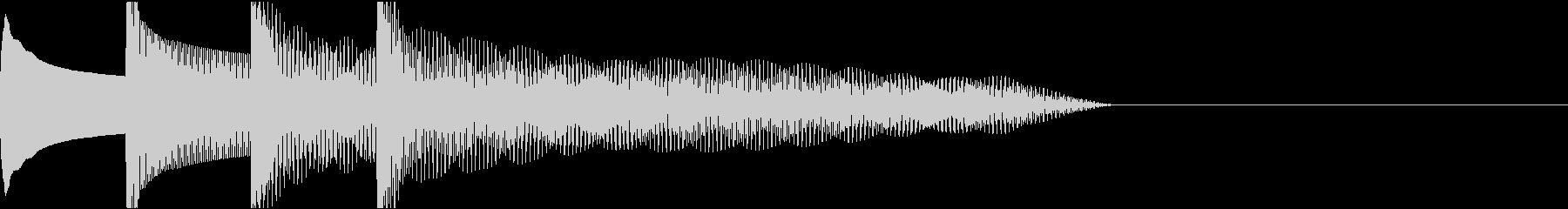 ピンポンパンポン下降チャイムB1の未再生の波形