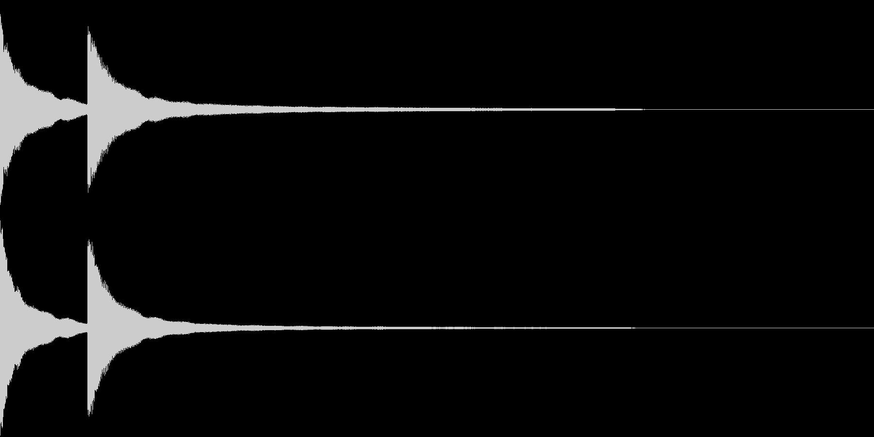 カーンカーン 西洋の鐘の音3の未再生の波形