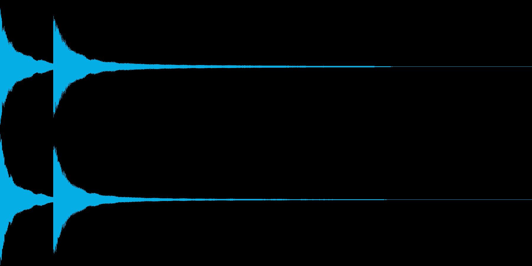 カーンカーン 西洋の鐘の音3の再生済みの波形