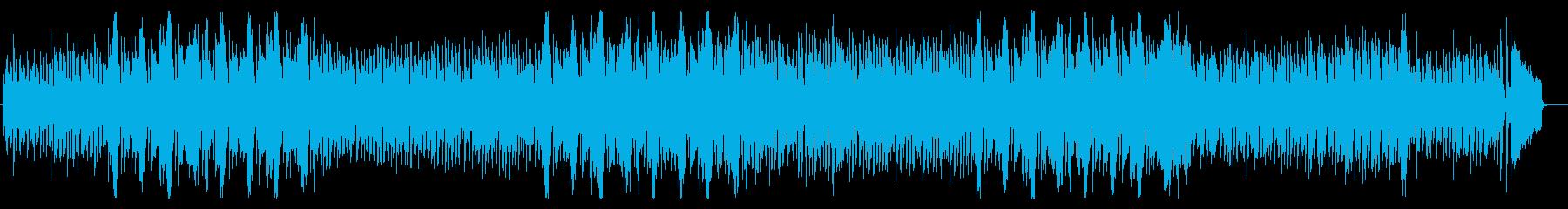 軽快で活動的なイメージのジャズ風曲の再生済みの波形
