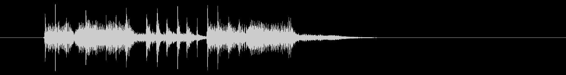パーカッションの音に浮遊感があるシンセ曲の未再生の波形