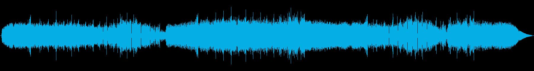 アブラゼミとツクツクボウシの鳴き声の再生済みの波形