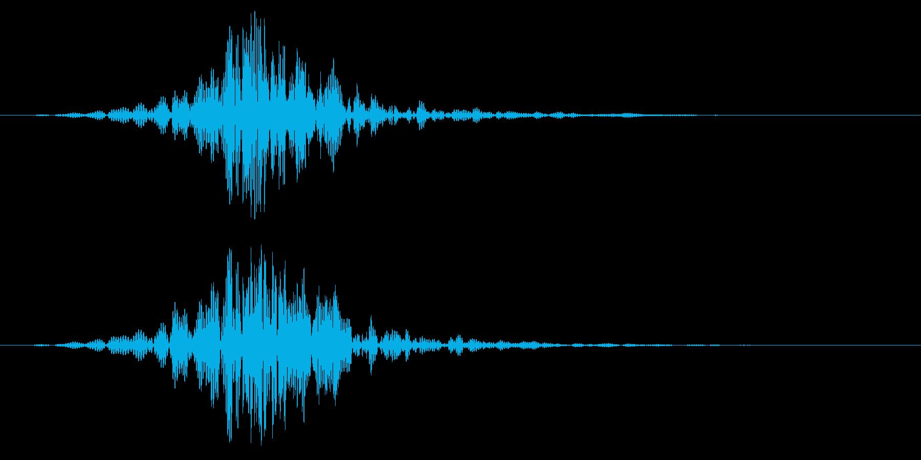 ヒュン(刀を振る/風切り音)空振りの再生済みの波形