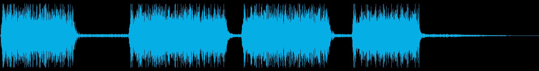 火炎放射器:さまざまな爆発の再生済みの波形