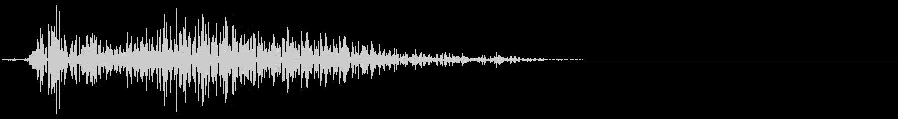 ゲーム掛け声ゾンビ1アウー3の未再生の波形