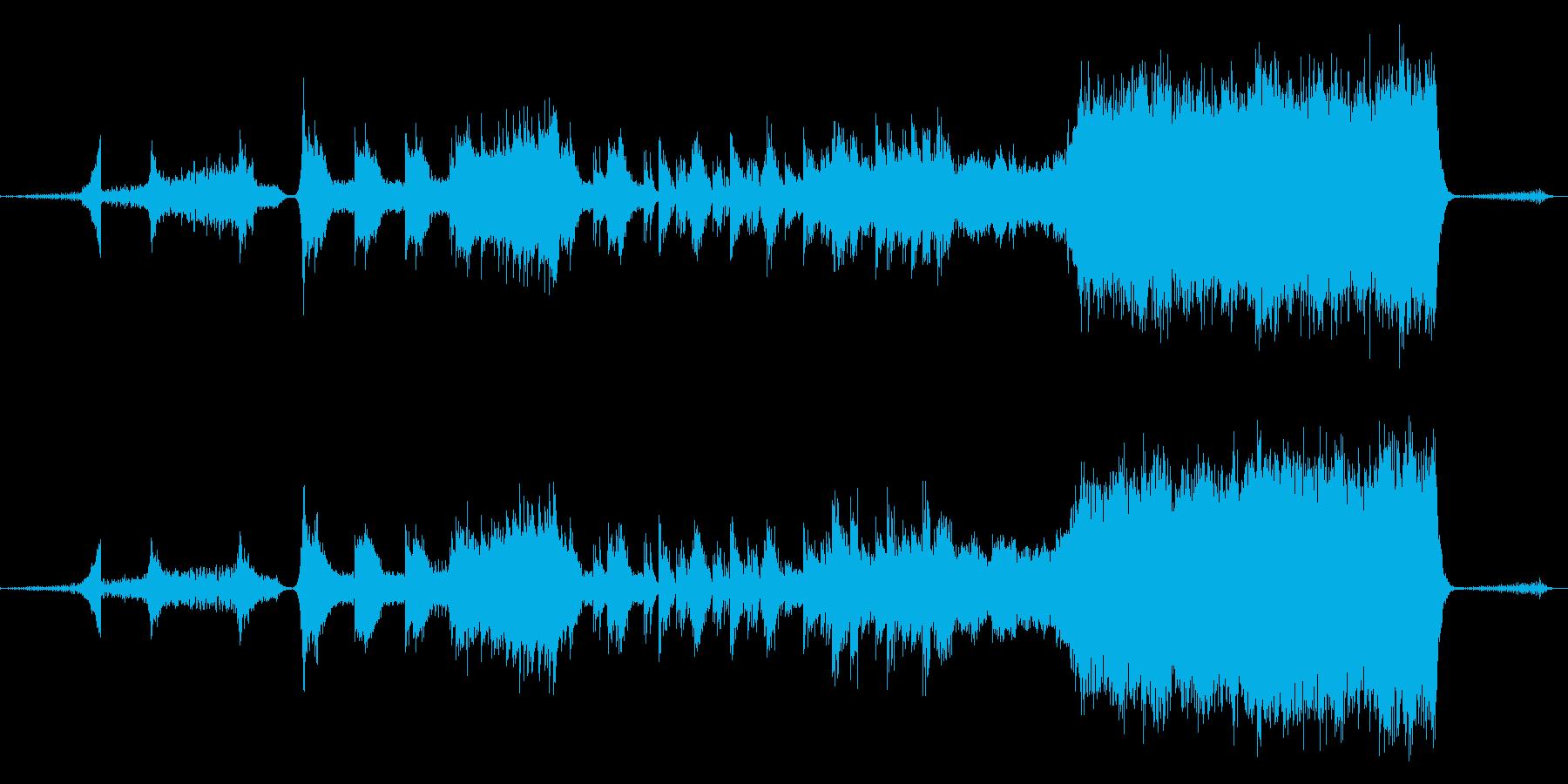 タームマシン、時空をイメージしたBGMの再生済みの波形
