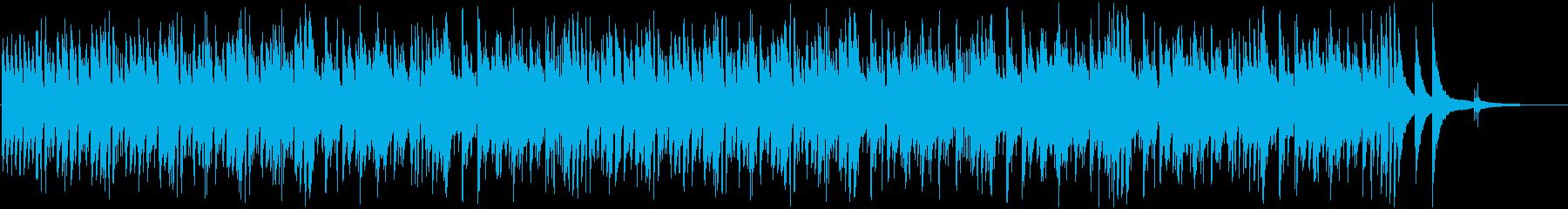 商品紹介に使える軽快なジャズの再生済みの波形