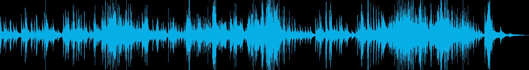 夜っぽいピアノ曲の再生済みの波形