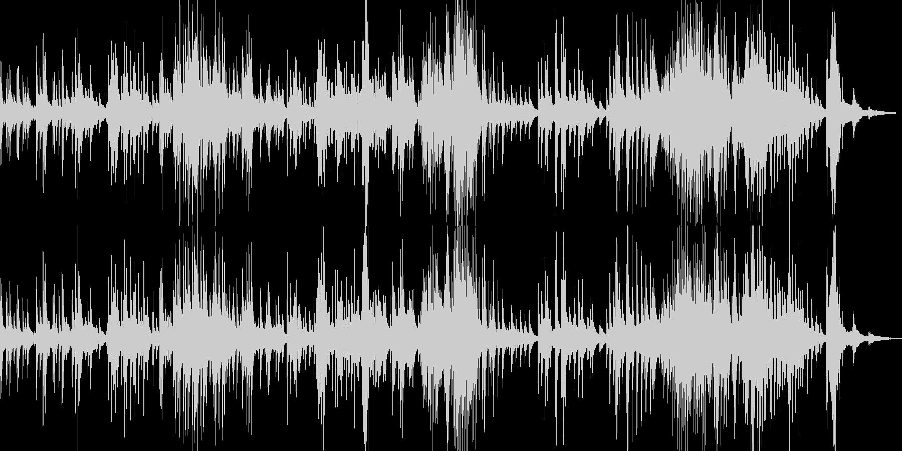 夜っぽいピアノ曲の未再生の波形