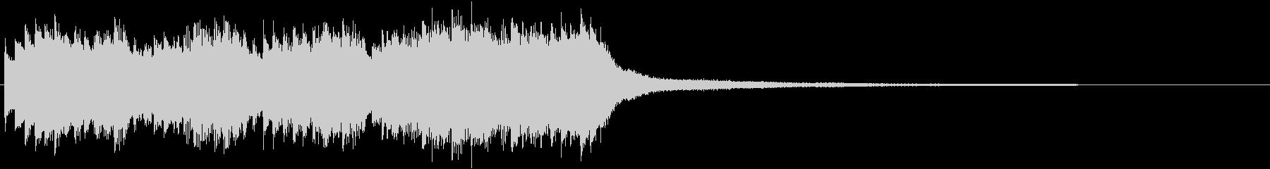 ゲームの選択画面イメージのピアノ曲の未再生の波形