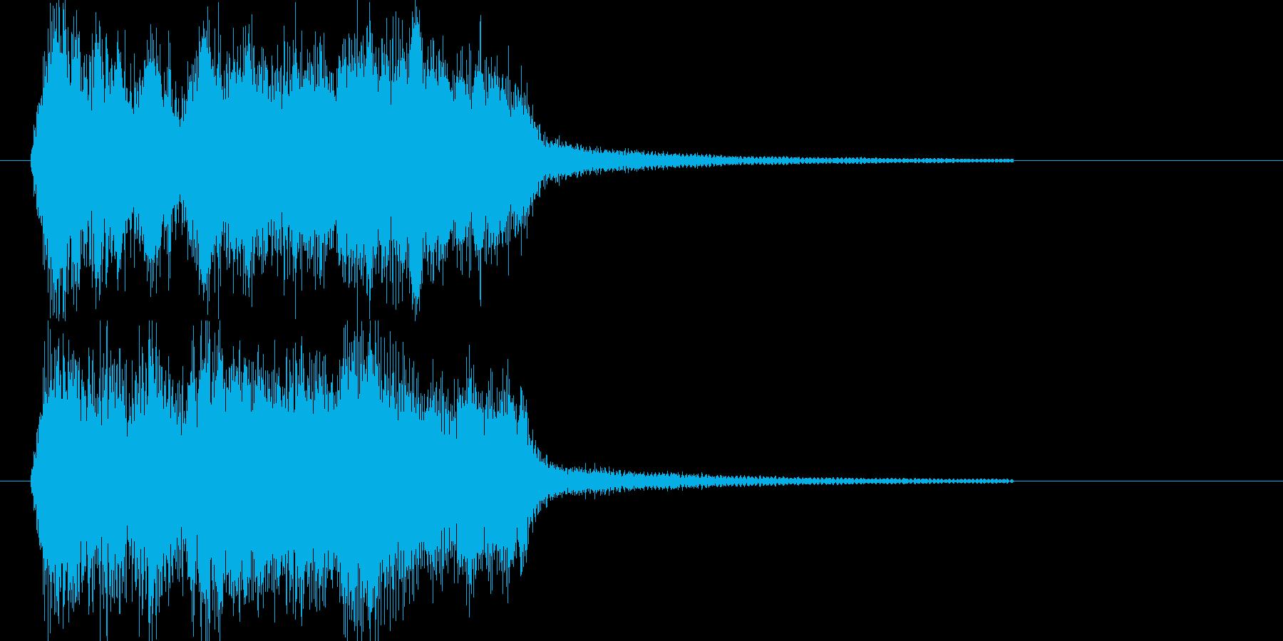 ファンファーレ レベルアップ 正解の再生済みの波形