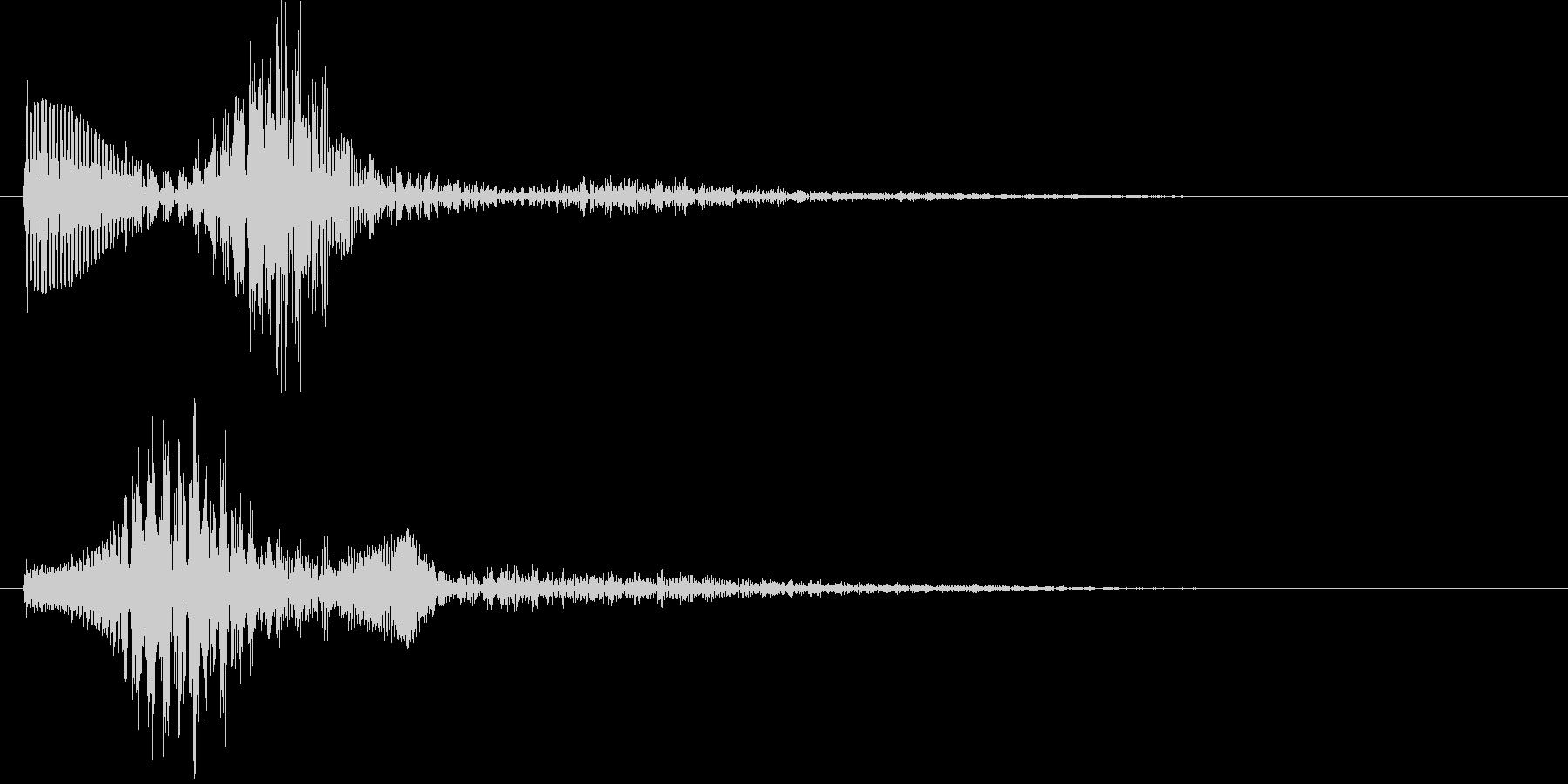パララン(決定音)の未再生の波形