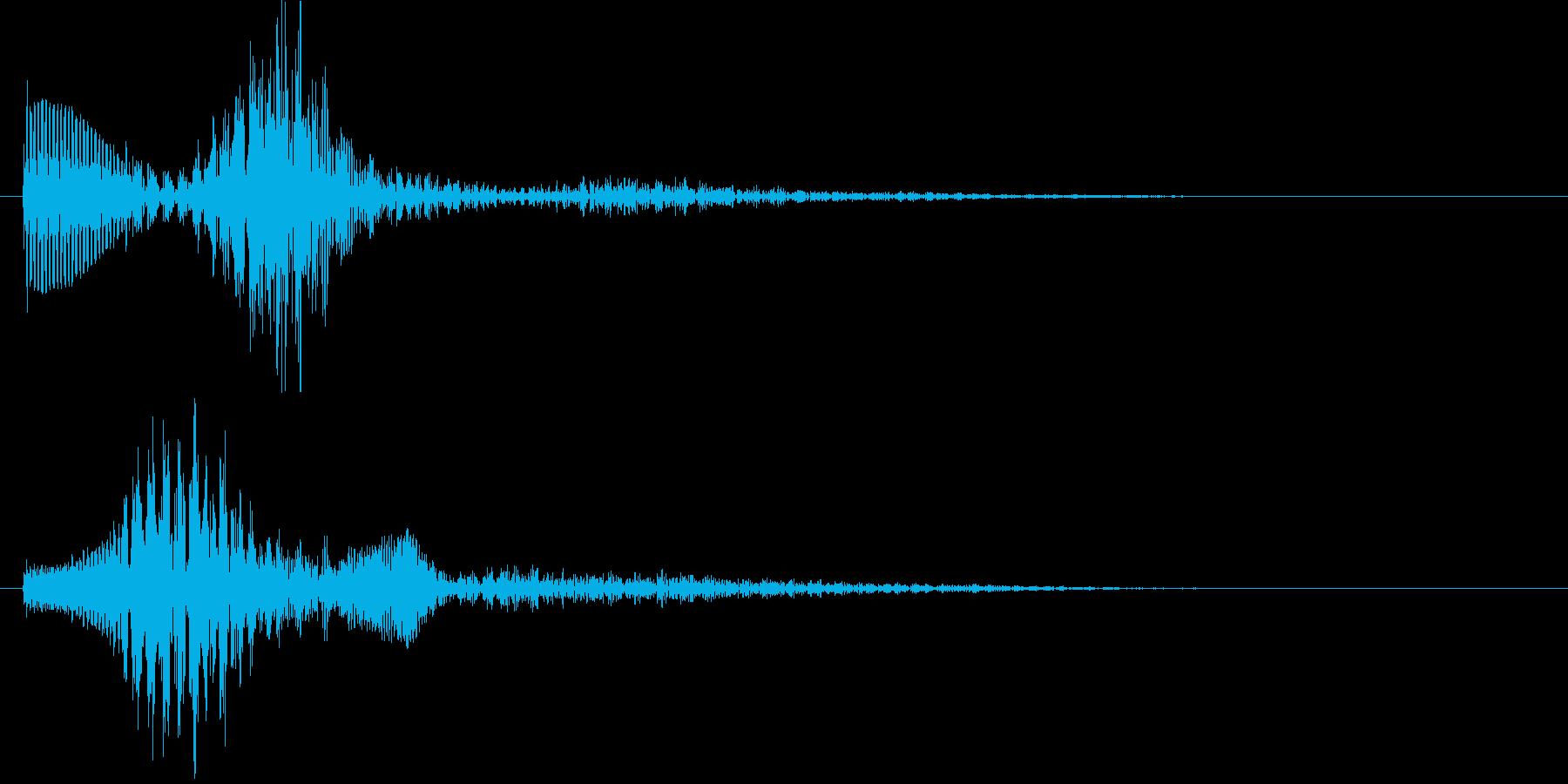 パララン(決定音)の再生済みの波形