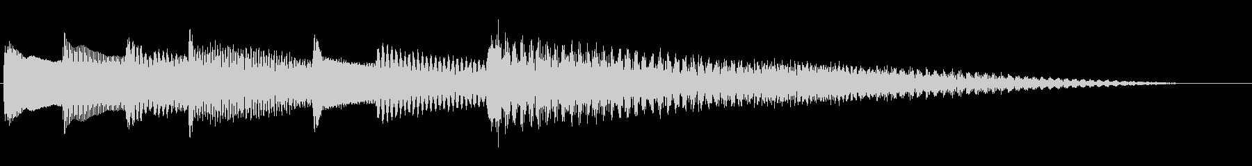 のびやかなピアノジングルの未再生の波形