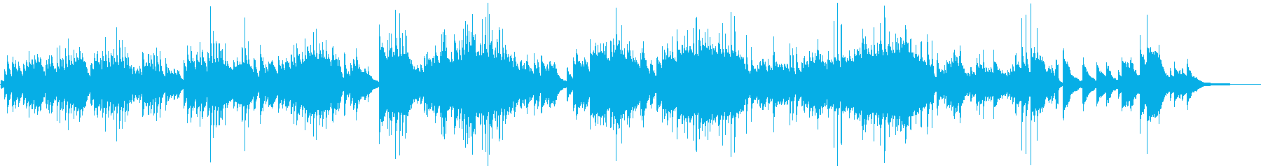 Pretty and cheerful piano ballad's reproduced waveform