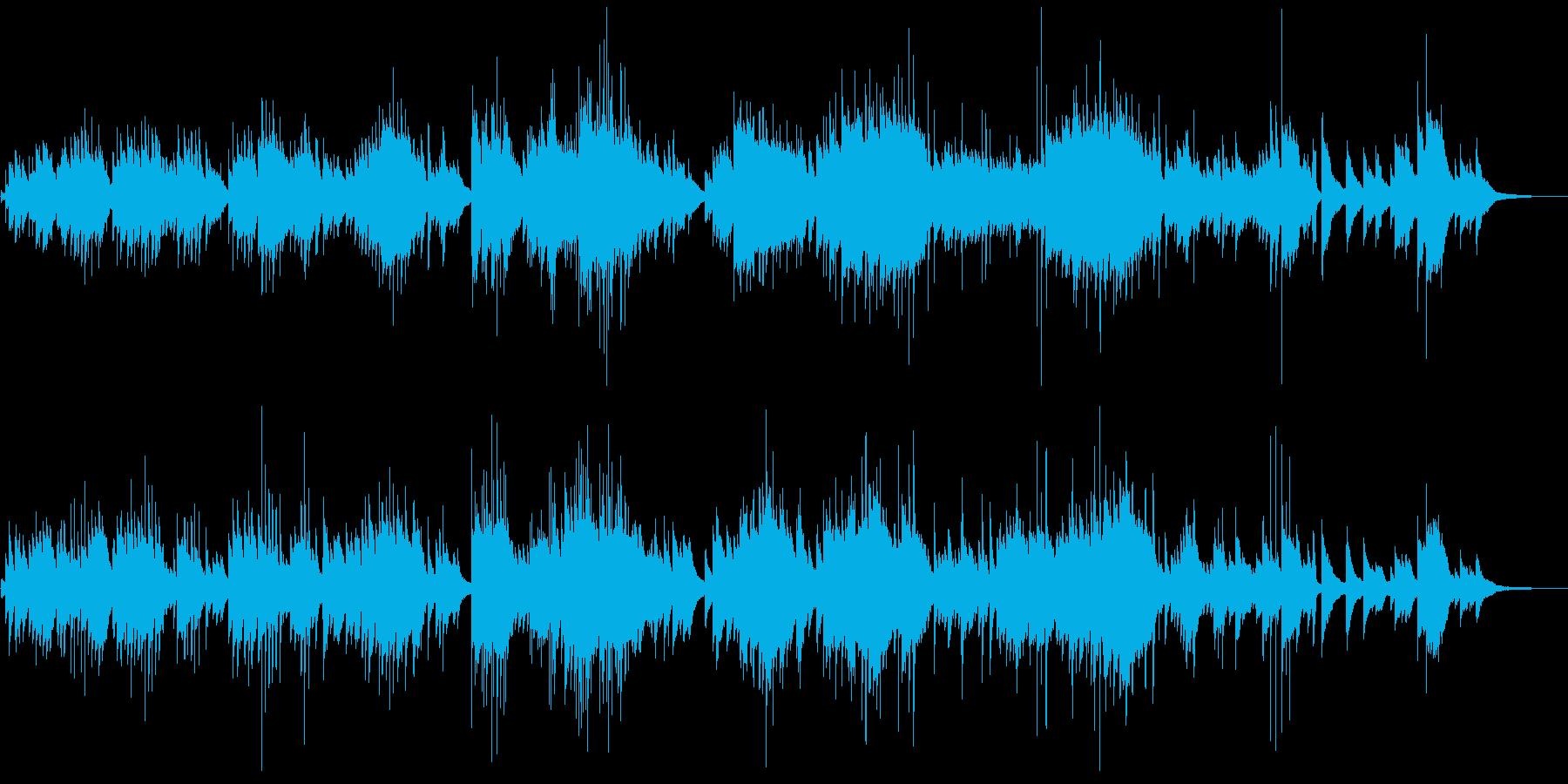 可憐で朗らかなピアノバラードの再生済みの波形