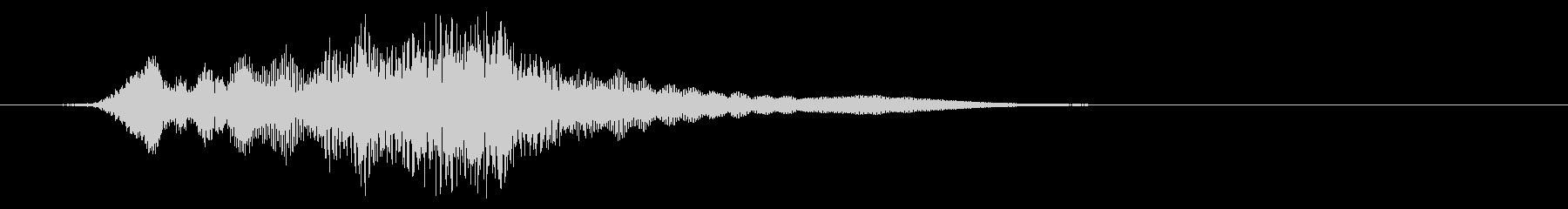 巨大な深いエイリアンボーカルパスバイの未再生の波形