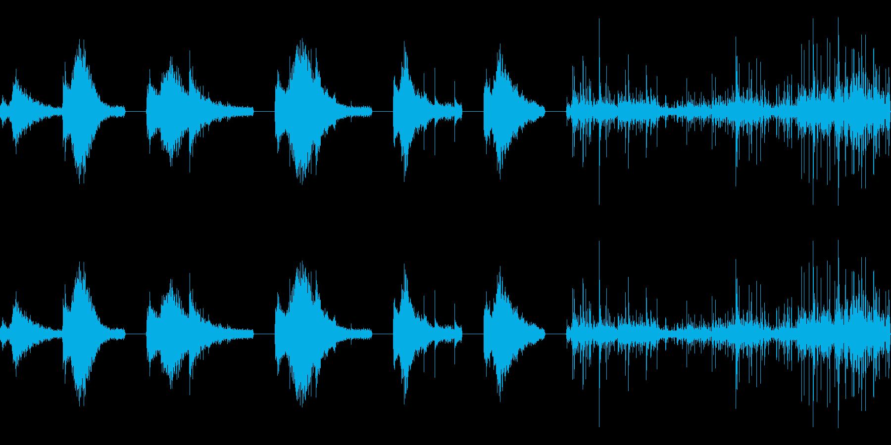 金属扉:スライドオープン、静音、6...の再生済みの波形