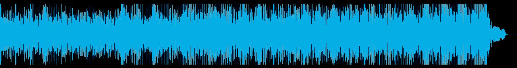 エスニックでダンサンブルなテクノの再生済みの波形