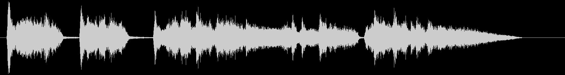 英詞、中低音が耳ごごち良い短いアカペラの未再生の波形
