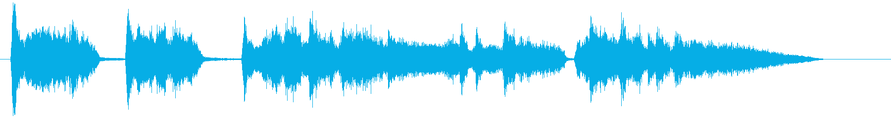 英詞、中低音が耳ごごち良い短いアカペラの再生済みの波形