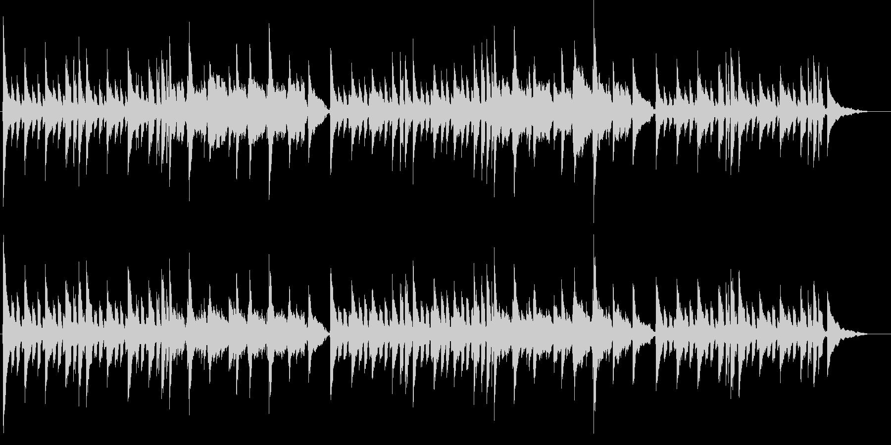 JAZZYなコードワークのアコギ独奏の未再生の波形