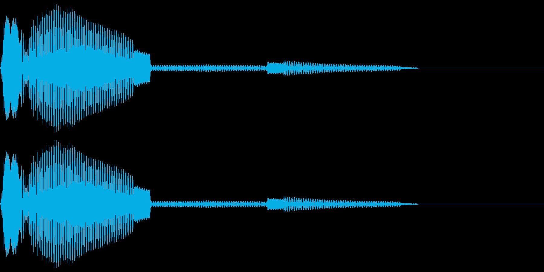 「システム効果音14_1(選択などのイ…の再生済みの波形