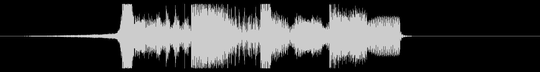 YouTube ダブステップジングル02の未再生の波形