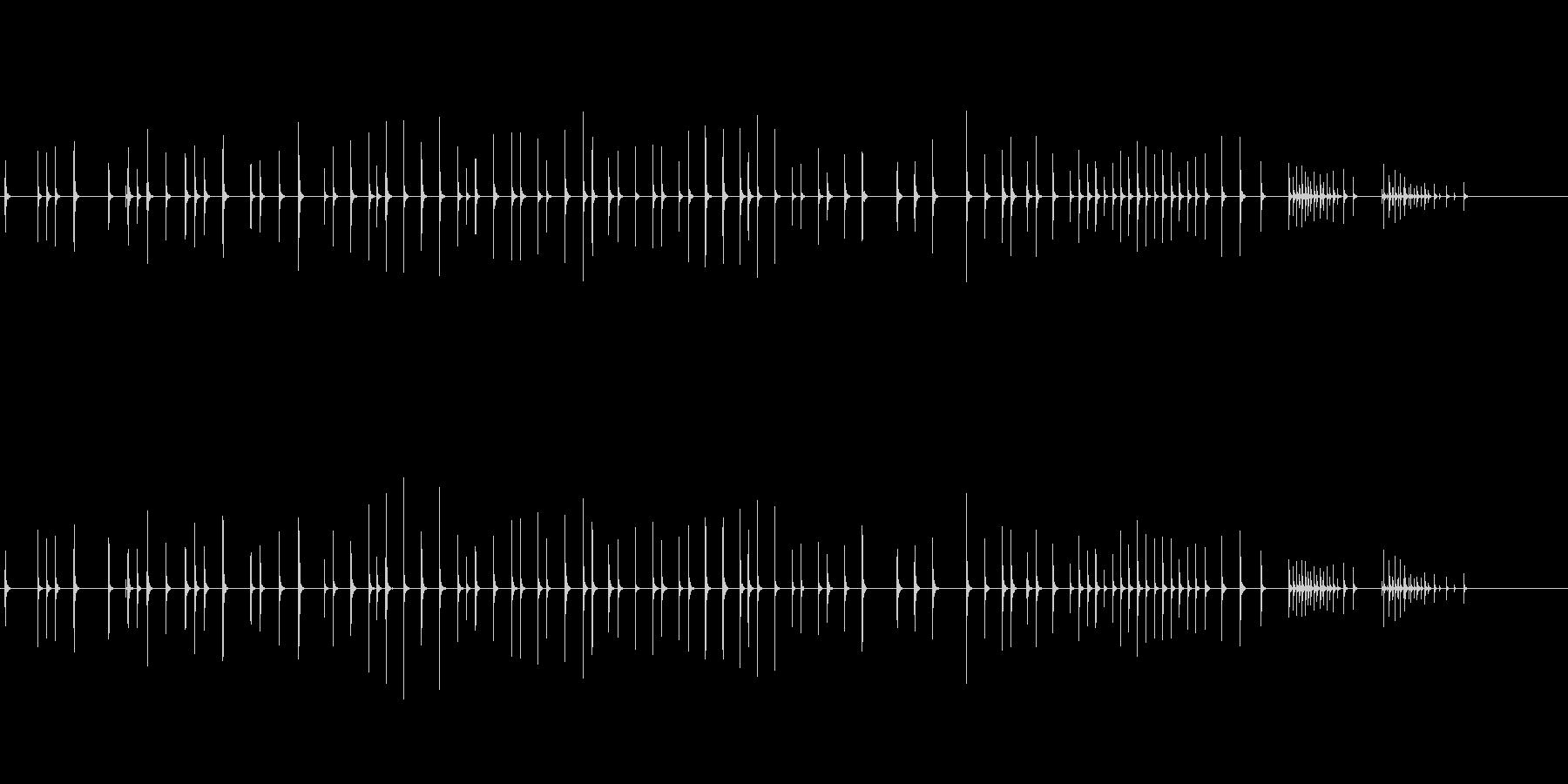 木琴8歌舞伎黒御簾下座音楽和風日本マリンの未再生の波形