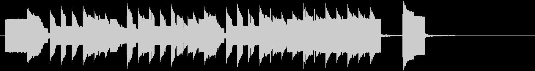 8bitゲームBGM風のジングルの未再生の波形
